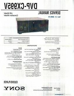SONY DVP-CX995V CD/DVD Player Service & Operating Manuals