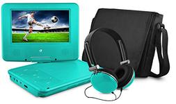 Ematic EPD707TL 7-Inch Portable DVD Player with Matching Hea