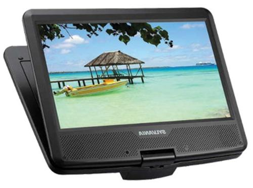 Sylvania SDVD1048 DVD Rechargeable Battery, Swivel Screen, with USB/SD and Kit
