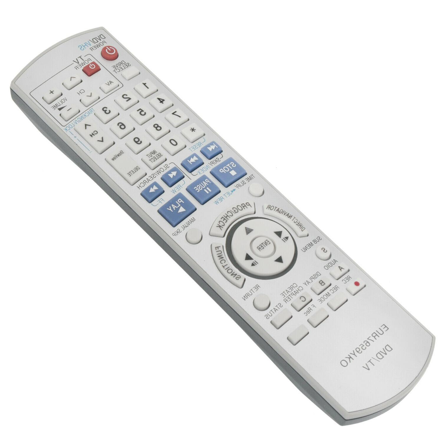 New DVD Remote Control EUR7659YKO Replace for Panasonic Play
